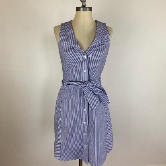 RACHEL Rachel Roy Dresses & Skirts - Rachel Roy Blue Stripe Tie Waist Shirt Dress
